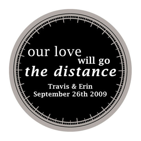 love will go the distance, stickers, black, personalize, names, wedding date, guests, gifts, favor, favors, biking, bicycles