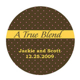blend, true blend, coffee, coffee cup, cup, favor, favors, customize, sticker, stickers