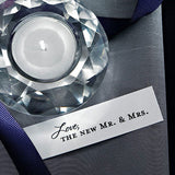 love, mr. and mrs., mr. & mrs., bride and groom, guests, confetti, cards, invitations, stationary, black, weddings