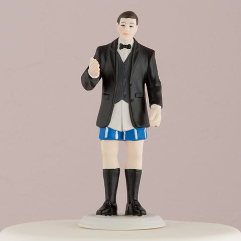 "Bride ""In Charge"" and Groom ""Not In Charge"" Cake Toppers Groom ""Not in Charge"" Minus His Pants Figurine"