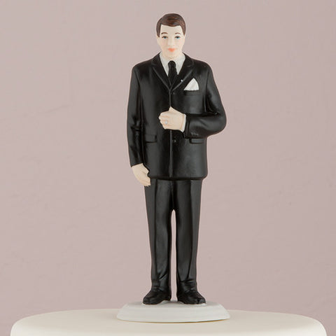 """The Big and Tall Groom"" Figurine Cake Topper"