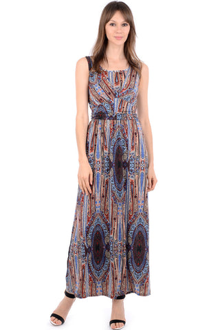 Silk Look Paisley Print Maxi Dress