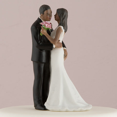 fun loving, couple, play, game,  playful squeeze,  ethnic, ethnicities, hand painted, porcelain, hand-painted, bride, wife, wedding reception, wedding, weddings, topper, Skin Color_Dark, Ethnicity_African American, mix and match, mix & match, groom, figurine, husband, couple, cake topper, Cake Accessories_Cake Toppers, cake