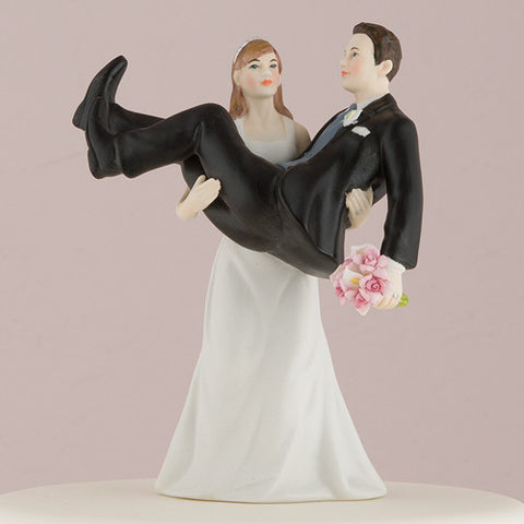 """To Have and to Hold"" - Bride holding Groom Figurine"