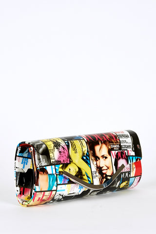 Vogue Magazine Cover Print Clutch Bag-Multi