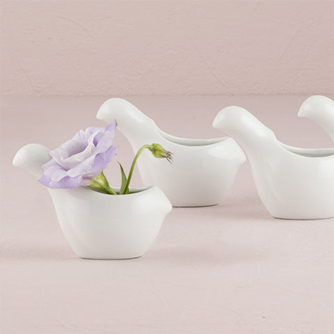 table planning accessories, table, multi-pupose, ceramic, favor, favors, guests, reception, wedding, birds, birds of a feather, container, holder, décor, decorations, miniature