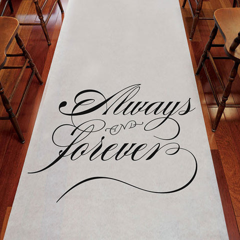 aisle, wedding aisle, aisle runner, runner, secure, sand, grass, outdoor, floor, always, forever, always and forever, always & forever, non-woven, ceremony, wedding ceremony,
