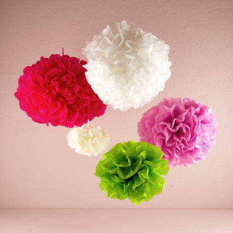 Celebration Peonies Tissue Paper Flowers Large White 3 Pack