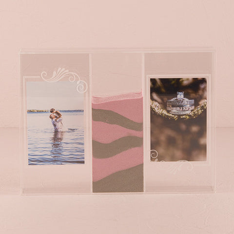 sand ceremony, shadow box, bride and groom, sand, photos, acrylic, keepsakes, frames