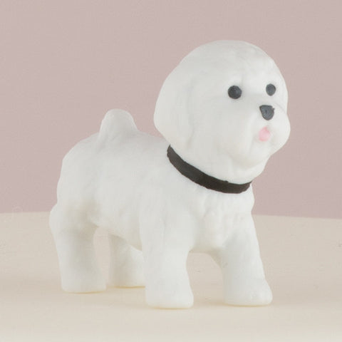 white, Bichon, Frise, Bichon Frise, favorite, furry friend, best friend, pet, pets, dog, dogs, celebrating,  display table, adorable,  dog figurine, unique, keepsake,  treasure, porcelain, hand-painted, bride, wife, wedding reception, wedding, weddings, topper, mix and match, mix & match, groom, figurine, husband, couple, cake topper, Cake Accessories_Cake Toppers, cake