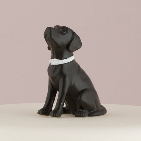 black, favorite, furry friend, best friend, pet, pets, dog, dogs, celebrating,  display table, adorable, Labrador, dog figurine, unique, keepsake,  treasure, porcelain, hand-painted, bride, wife, wedding reception, wedding, weddings, topper,  mix & match, groom, figurine, husband, couple, cake topper, Cake Accessories_Cake Toppers, cake