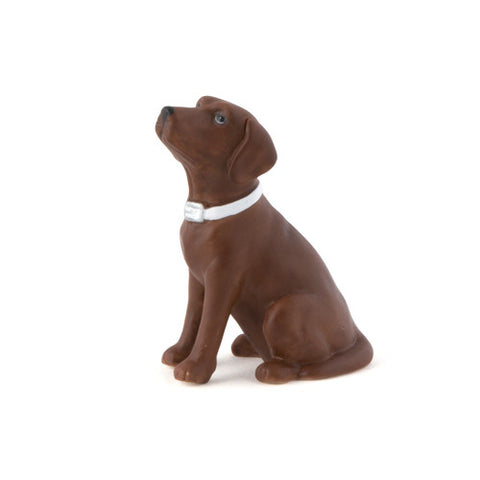 chocolate brown, brown, favorite, furry friend, best friend, pet, pets, dog, dogs, celebrating,  display table, adorable, Labrador, dog figurine, unique, keepsake,  treasure, porcelain, hand-painted, bride, wife, wedding reception, wedding, weddings, topper,  mix and match, mix & match, groom, figurine, husband, couple, cake topper, Cake Accessories_Cake Toppers, cake
