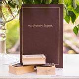 """Our Journey Begins"" Travel Inspired Alternative Guest Book Kit Chocolate Brown"