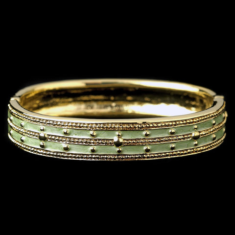 Bangle, Bracelet, Enamel, Gold, Green, Jewelry, Peridot