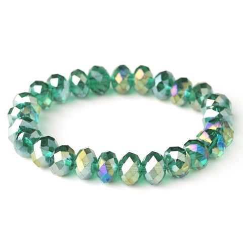 Bracelet, Crystals, Emerald, Green, Jewelry, Stretch