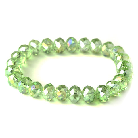 Bracelet, Crystals, Green, Jewelry, Peridot, Stretch