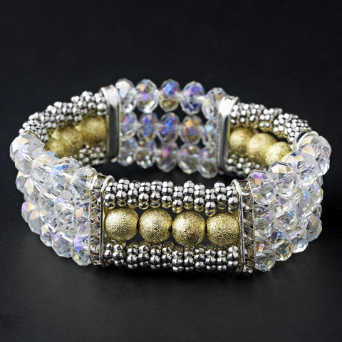 Bracelet, Crystals, Gold, Jewelry, Rhinestones, Sale, Silver, Stretch