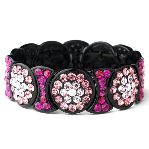 Bangle, Black, Bracelet, Jewelry, Pink, Rhinestones, Sale