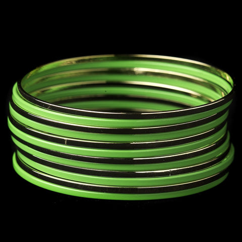 Bangle, Bracelet, Gold, Green, Jewelry