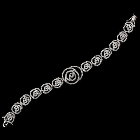 Bracelet, Clasp, Clear, Crystals, Cubic Zirconias, Jewelry, Rhodium