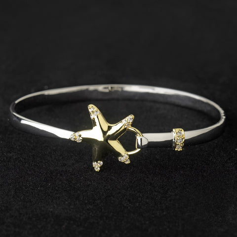Bangle, Beach, Bracelet, Clear, Crystals, Cubic Zirconias, Gold, Jewelry, Pendant, Silver, Silver & Gold, Starfish