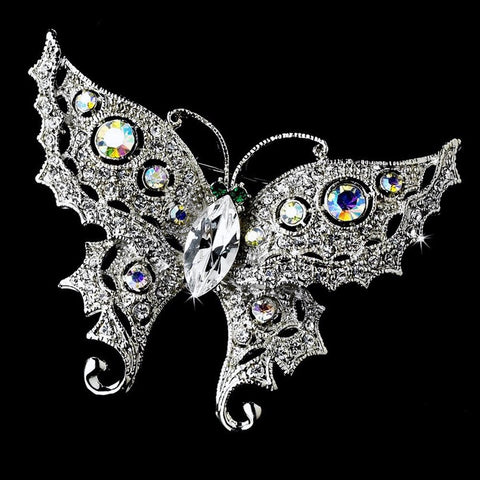 AB, Brooch, Butterfly, Jewelry, Rhodium, Sale