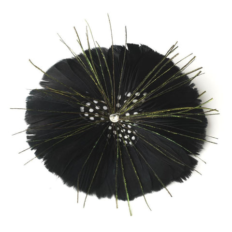 Black, Brooch, Feathers, Jewelry, Sale