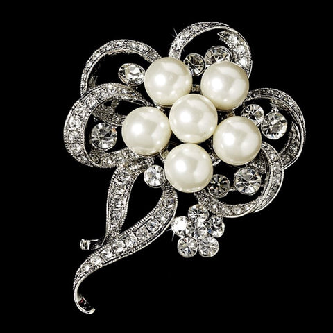 Brooch, Diamond White, Jewelry, Rhodium, Sale