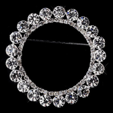 Brooch, Clear, Jewelry, Rhinestones, Silver