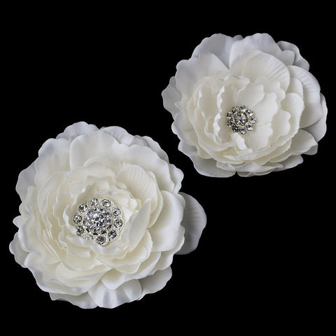 Diamond White, Hair Clip, Hair Flowers, Headpieces, Ivory, White