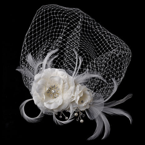 Accessories, Birdcage & Blusher Veils, Combs, Fabric, Face, Faux Pearls, Feather Fascinators, Hair Comb, Hair Flowers, Headpieces, Ivory, Lace, Pearls, Rhinestones, Sale, Tulle, Veils, White