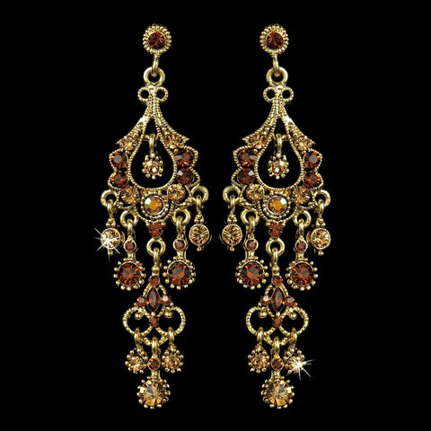 Chandelier, Earrings, Gold, Jewelry, Marquise, Rhinestones, Topaz