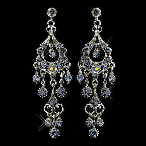 Blue, Chandelier, Earrings, Jewelry, Marquise, Navy, Rhinestones, Rhodium