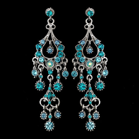 Blue, Chandelier, Earrings, Jewelry, Marquise, Rhinestones, Rhodium, Turquoise