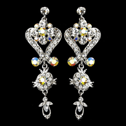 AB, David Tutera for Mon Cheri, Earrings, Jewelry, Rhinestones, Silver