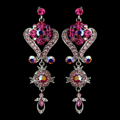 Chandelier, David Tutera for Mon Cheri, Earrings, Jewelry, Pink, Rhinestones, Silver