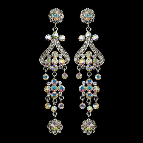 AB, Chandelier, Earrings, Jewelry, Rhinestones, Silver