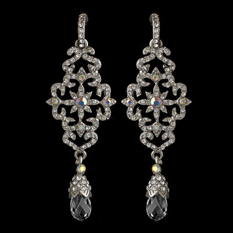 AB, Chandelier, Crystals, Earrings, Jewelry, Rhinestones, Silver