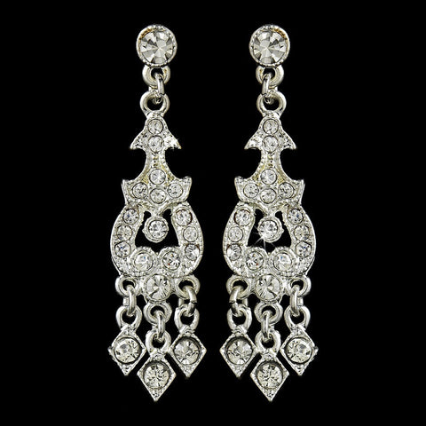 Chandelier, Clear, Earrings, Jewelry, Rhinestones, Silver