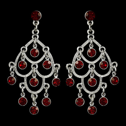 Burgundy, Chandelier, Earrings, Jewelry, Red, Rhinestones, Sale, Silver