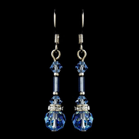 Crystals, Dangle, Earrings, Jewelry, Light Blue, Rhinestones, Sale, Silver, Swarovski Crystal Beads