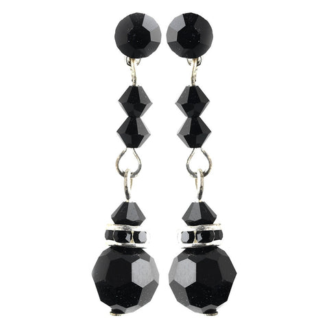 Black, Crystals, Dangle, Earrings, Jewelry, Rhinestones, Silver, Swarovski Crystal Beads