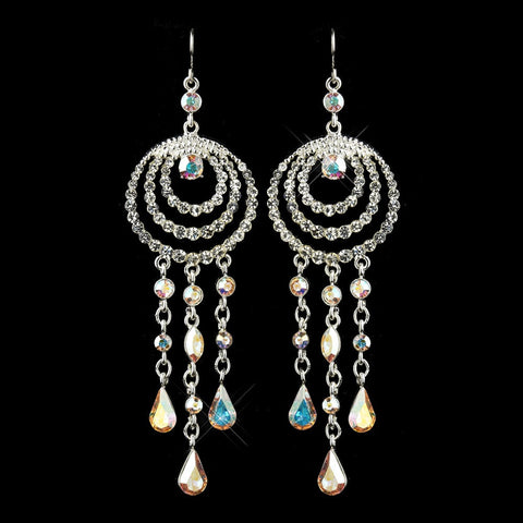 AB, Chandelier, Earrings, Jewelry, Pear, Rhinestones, Silver