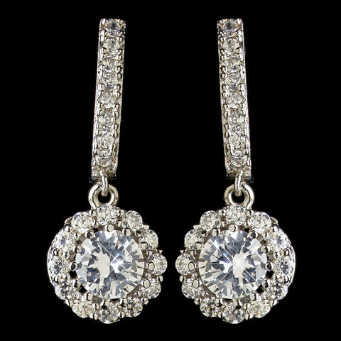 Accessories, Children's Accessories, Children's Jewelry, Clear, Crystals, Cubic Zirconias, Drop, Earrings, Jewelry, Rhodium
