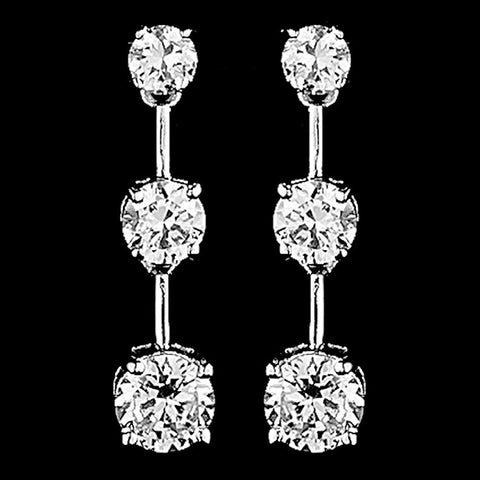 Clear, Crystals, Cubic Zirconias, Drop, Earrings, Gold, Jewelry, Rhodium