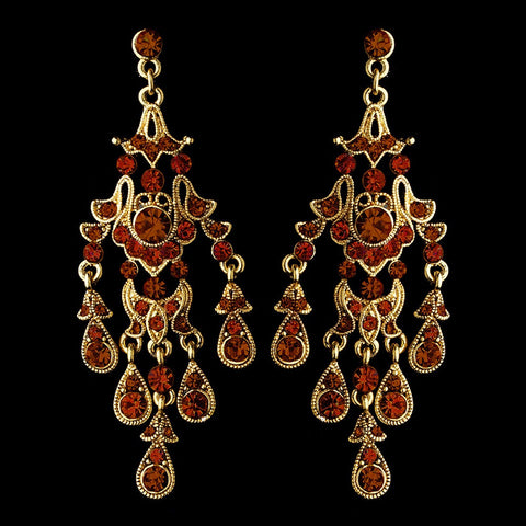 Brown, Chandelier, Earrings, Gold, Jewelry, Rhinestones