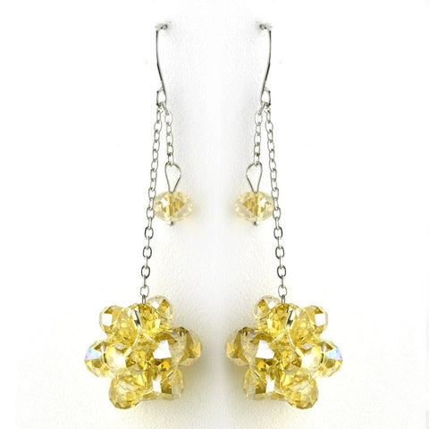 Dangle, Earrings, Faux Pearls, Jewelry, Pearls, Rhinestones, Sale, Silver, Yellow