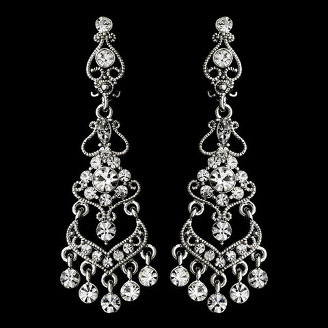 Chandelier, Clear, Earrings, Jewelry, Rhinestones, Rhodium