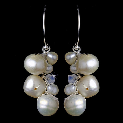 Crystals, Drop, Earrings, Freshwater Pearls, Ivory, Jewelry, Pearls, Silver, Swarovski Crystal Beads