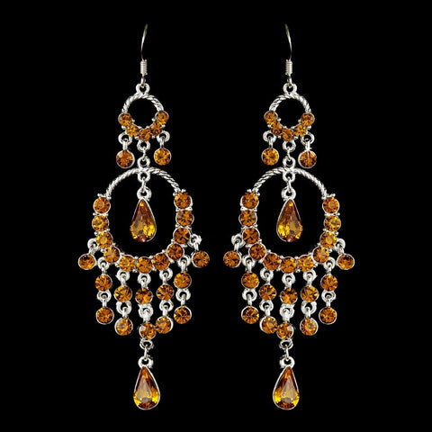 Chandelier, Earrings, Jewelry, Pear, Rhinestones, Sale, Silver, Topaz